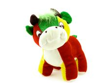 Free A Toy Multicoloured Cow Stock Photo - 18627620