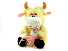 Free A Toy Peach Cow Stock Images - 18627624