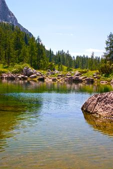 Free Lake And Mountains In Alps Royalty Free Stock Image - 18627926
