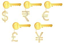 Free Diamond Currency Key Ring Royalty Free Stock Images - 18628209
