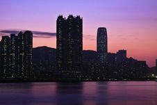 Sunset In Hong Kong Stock Image