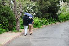Free Couple Under Rain Stock Photo - 18629590