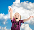 Free Llittle Cute Baby Wants To Fly Royalty Free Stock Photo - 18632845