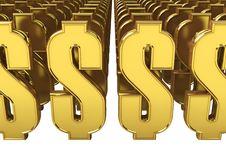 Free Many Dollar Symbols Royalty Free Stock Images - 18631509