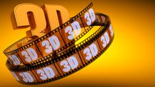 Film With Word 3D Royalty Free Stock Images