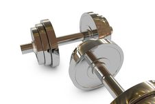 3d Dumbbell Weight Stock Photography