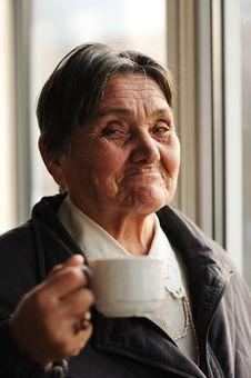 Portrait Of Senior Woman Stock Image