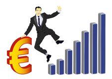 Free Businessman Celebrating Euro Royalty Free Stock Image - 18632106