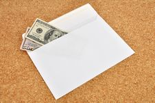 Free Dollars In An Envelope Royalty Free Stock Photo - 18632895