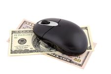 Free Wireless Mouse And Dollars Royalty Free Stock Images - 18632899