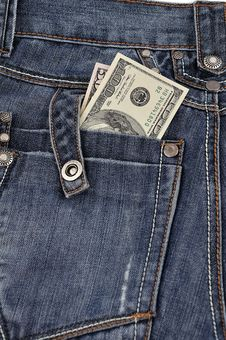 Free Dollars In His Back Pocket Stock Images - 18632914