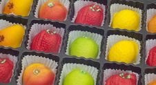 Free Colorful Marzipan In Fruit Shapes Royalty Free Stock Photos - 18633228