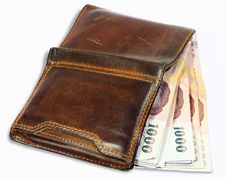 Free Wallet With Money Royalty Free Stock Photos - 18633958