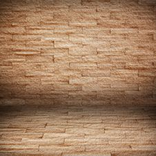 Free Room With Brick Wall. Grunge Industrial Interio Stock Photo - 18634100