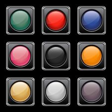 Free Glossy Buttons Set Stock Photos - 18634263