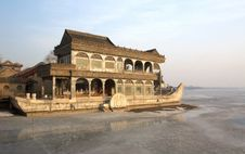 Free Stone Boat In Summer Palace Royalty Free Stock Photos - 18634548