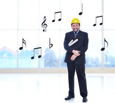 Young Caucasian Engineer Royalty Free Stock Photo