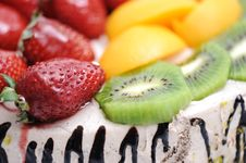Fantastic Fruit Cake Royalty Free Stock Images