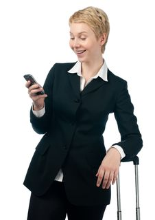 Free Business Woman With Mobile Phone Stock Photos - 18635583