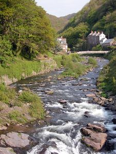 Free East Lyn River At Lynmouth Stock Photos - 18635863