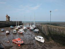 Free Rhenish Tower And Harbour At Lynmouth Stock Photos - 18635903