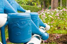Free Blue Watering Pot Royalty Free Stock Photo - 18635905