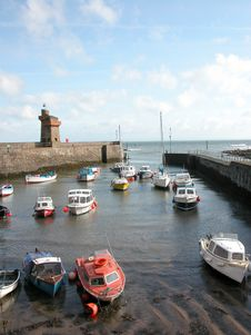 Free Rhenish Tower And Harbour At Lynmouth Royalty Free Stock Photos - 18635908