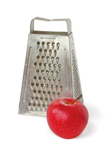 Free Grater With A Red Apple Royalty Free Stock Image - 18635926