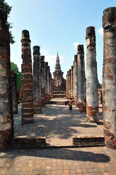 Ruin Temple In Sukhothai Royalty Free Stock Photos