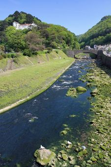 Free East Lyn River At Lynmouth Royalty Free Stock Photo - 18635955