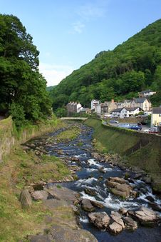 East Lyn River At Lynmouth Royalty Free Stock Image