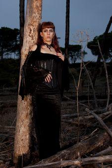 Dark Woman Stock Photo