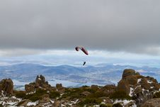 Free Mount Wellington Paraglider Royalty Free Stock Photography - 18637467