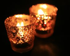 Free Candle In Dark Room Stock Image - 18638311