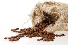 Free Burlap Sack Of Roasted Beans Stock Photos - 18638313