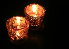 Free Candle In Dark Room Royalty Free Stock Images - 18638329
