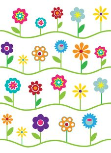 Free Floral Pattern Royalty Free Stock Photography - 18638797