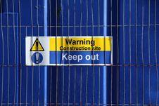 Free Warning Sign Stock Photo - 18638810