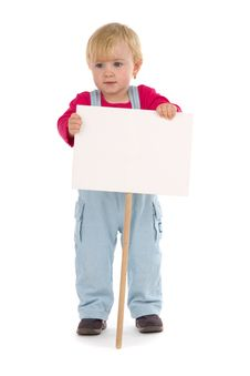 Child With Blank Table Stock Images