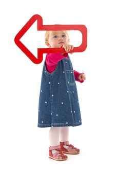 Free Child With Red Dart Stock Photo - 18639050