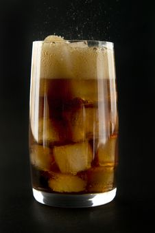 Glass With Cola And Ice. Stock Photography