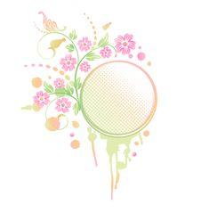 Free Grunge Floral Frame Royalty Free Stock Images - 18639379