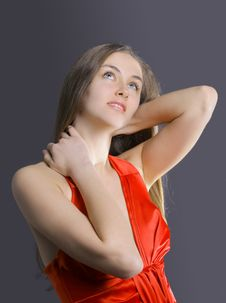 Free Portrait Of A Beautiful Dancing Girl Stock Photo - 18639770