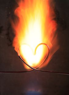Free Burning Heart Stock Photo - 18639870