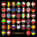 Free European Flags-badges. Stock Photo - 18645320
