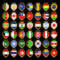 Free Flags-badges. Stock Image - 18645321