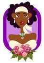 Free Modern Bride In Purple Frame Royalty Free Stock Image - 18645676