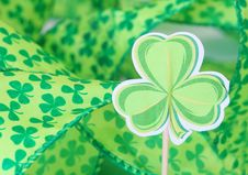 Shamrock & Ribbons Royalty Free Stock Photo