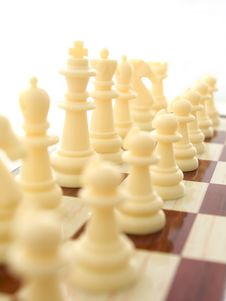 Free White Chess-men Royalty Free Stock Photography - 18640787