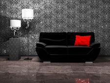 Modern Interior Design With A Sofa Royalty Free Stock Image